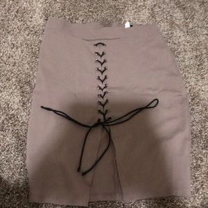 Skirt with corset up the front